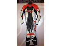 Official Kawasaki Ninja One Piece Motorcycle Leather Race Suit - EU 54 / UK 44