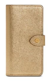 Genuine Brand New Boxed Mulberry iPhone Flip Case- Gold