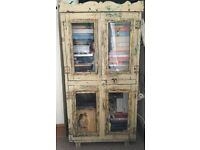 Walnut heavy duty shabby chic style freestanding storage unit