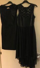 2 black dresses