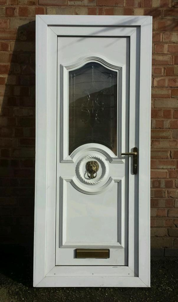 Upvc front door 35 inches x 81 inches fully furnished new for Reclaimed upvc doors