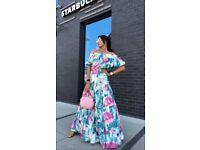 Summer flower maxi dress
