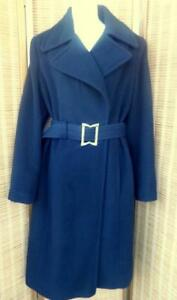Oakville Womens 12 Jones NY New York Black Wrap Coat  WOOL Blend FALL JACKET / Soft Warm  Free Animal Print Scarf