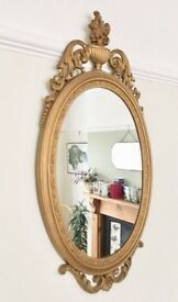 VINTAGE STYLE GOLD WALL MIRROR, ORNATE FRAME, BEAUTY & THE BEAST BAROQUE STYLE