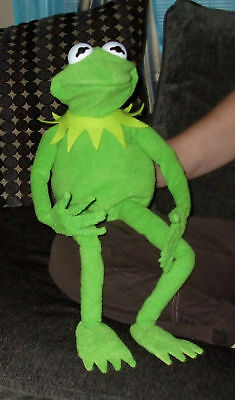 """JIM HENSON PROFESIONAL KERMIT THE FROG FULL HAND PUPPET 28"""" WITH BENDY FINGERS"""