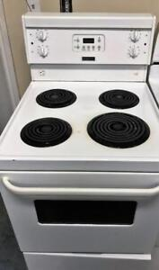 White 24 inch Electric Stove Excellent Condition with Warranty and Delivery Available