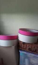 Two large light shades pink