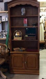 1980's 2-Piece Bookcase/China Cabinet