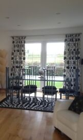 3 pair lined curtains 90 x 90