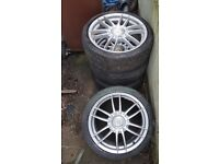 205/40/17 wolfrace alloys