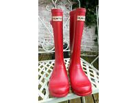 Girls Hunter Wellies size 13
