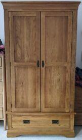 Oak furnitureland Rustic Solid Oak Double Wardrobe