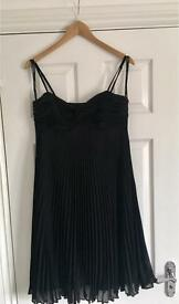 AutoGraph black pleated prom style dress size 10