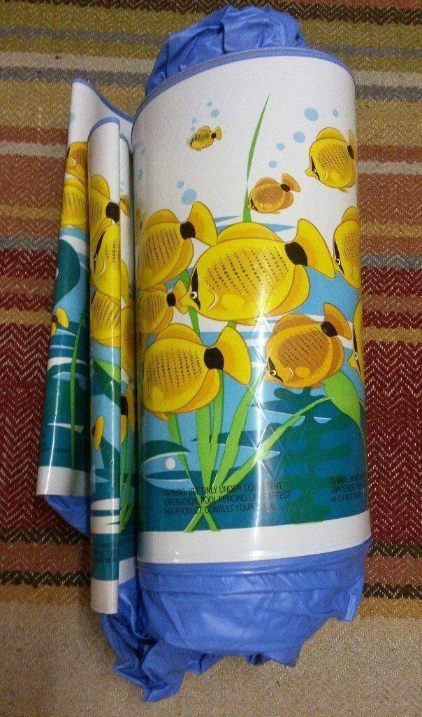 Retro Fish Sea/Ocean/Design/ Motif Childrens Paddling Pool:Blue,Turquoise,Green,Yellow White:Water