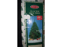 GLACIER PINE 5FT CHRISTMAS TREE WITH STAND USED ONCE