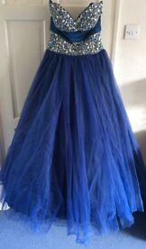 Stunning Blue Prom / Evening Dress (size 14) by Demetrios of New York - TOP QUALITY