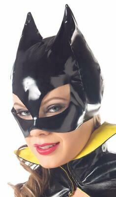 Batman Cat Woman Face Mask Pointy Ears Vinyl Super Hero Villain Costume BW0711 - Batman Face Mask