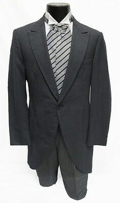 Boys Gray Cutaway Morning Frock Coat Theater Victorian Costume Damaged Cheap - Cheap Victorian Costume