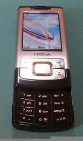 Nokia 6500 Slide, Used but in unmarked fully working condition. Unlocked with '3' chip & £16+ credit