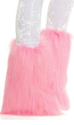 Metallic Furry Legwarmers Fuzzy Boot Covers Fluffy Sparkle Shimmer Gold 997921](Fluffy Boot Covers)