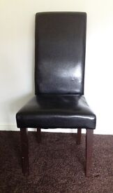 6 Black Dining Room Chairs