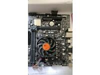 Motherboard and cpu 3.8GHZ OC