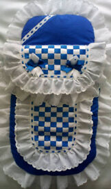 New Handmade Babys Pram set Blanket Pramset Romany