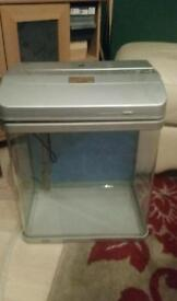 Fish tank. With filter built in