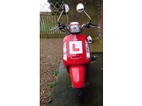 Red Sym Tonik 125 Scooter Plus Accessories - Very Low Mileage