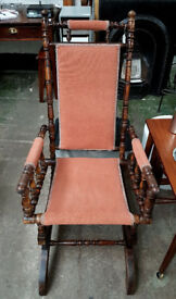 Antique American Rocking Chair c. 1910