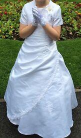 Stunning white communion dress with bolero age 9