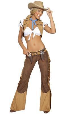 Wild West Sheriff Costume (Wild West Sheriff Costume Top Vest Fringe Pants Badge Belt Holster Toy Guns)