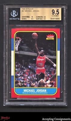 1986-87 Fleer Basketball #57 Michael Jordan Rookie BGS 9.5 Gem Mint RC BULLS