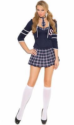 School Girl Uniform Costume Top Jacket Skirt Tie Plaid Class Distraction 99004 - School Girl Skirt Costume
