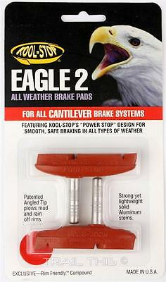 Kool-Stop Eagle 2 Cantilever Bike Brake Pads Smooth Post All-Weather Salmon 2 Cantilever Brake Pads