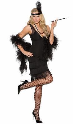 Flapper Costume Fringe Dress Sequin Feather Headband Retro 20's Gatsby 99051