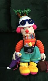 HAND KNITTED CHARACTER SOFT TOY TOURIST THEME