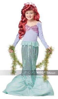 NEW Little Mermaid Child Halloween Costume, Ariel, by California Costumes, M  - Ariel Halloween Costumes