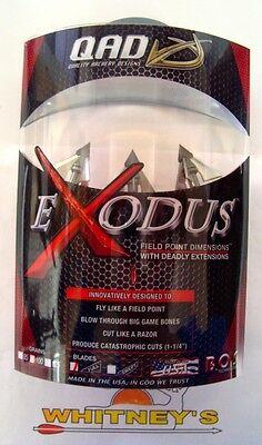 Quality Archery Designs-QAD-Exodus Broadhead100 Grain 3 Fixed blade Full BX100-F 100 Fixed Blade Broadhead