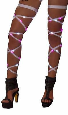 Light Up Leg Wraps Straps Garter Thigh Highs Rave Festival Costume Dance 3244 - Light Up Dance Costumes