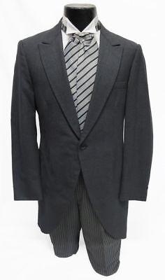 38XL Charcoal Gray Cutaway Morning Coat Victorian Costume Dickens Caroling Cheap - Cheap Victorian Costume