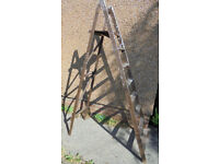 Large Wooden Step Ladder - Ideal For Shop Display, Wedding Display