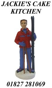 SKIER-SKI-SKIING-MAN-FIGURINE-BIRTHDAY-CAKE-CUPCAKE-TOPPER-DECORATION-7cm-TALL