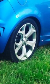 Corsa vxr alloys with tyres