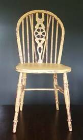 Solid Wood painted wheelback chair shabby chic vintage free local delivery