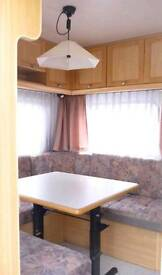 6 berth caravan with fixed bed