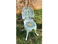 Lovingly upcycled iron garden chair