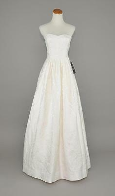 J.CREW $1,350 ELLA WEDDING / BALL GOWN 2 IVORY LONG STRAPLESS BRIDAL DRESS F3783