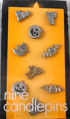 Halloween Candle Pins 9 Different Pins Pumpkins Boo Bats Ghost Cat Haunted House