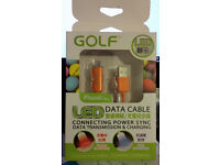 Original GOLF LED Lighting 8Pin USB Data Charging Cable 1M 2.1A For APPLE